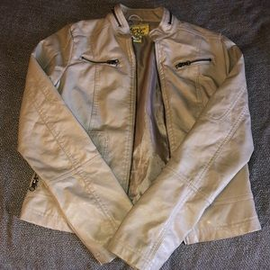Maralyn & Me Jackets & Coats - Tan Faux leather jacket